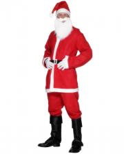 Santa Claus Party Kostüm mit Bart