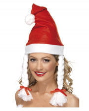 Christmas Cap With Plaits