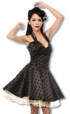 Satin Petticoat Dress With Leopard Pattern
