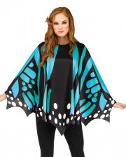 Schmetterlings Flügel Poncho Blau