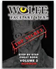 Make Up Book Face Art Horror