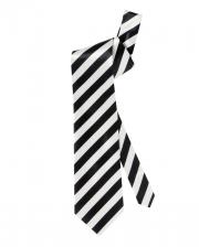 Krawatte schwarz weiß gestreift