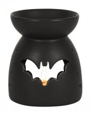 Black Fragrance Lamp With Bat Motif