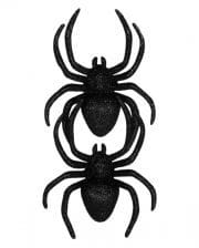 Black Glitter Spiders 2 Pcs.