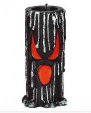 Schwarze Halloween Geister Kerze 15cm