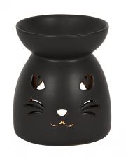 Schwarze Katze Duftöl Lampe