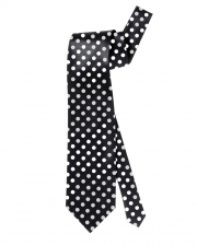 Black Tie With White Dots