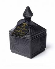 Schwarze Rose Gothic Duftkerze im Vintage Glas Small
