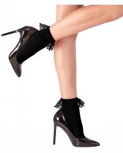 Lace socks black