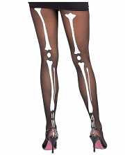 Tights with skeleton motif