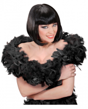 Black feather boa in show quality