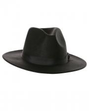Schwarzer Filzhut mit Hutband