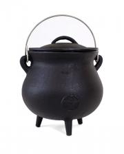 Cast Iron Witch Cauldron With Pentagram 19cm