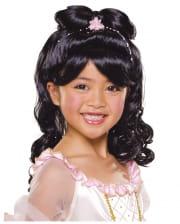 Kinderperücke Prinzessin schwarz