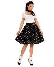 Black 50s Polka Dot & Scarf