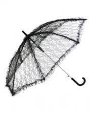 Umbrella With Lace Black
