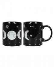 Black Triple Moon Coffee Mug