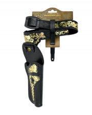 NEU Cowboy Pistolen-Holster mit Gürtel 114 cm