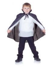 Schwarzer Vampirumhang für Kinder