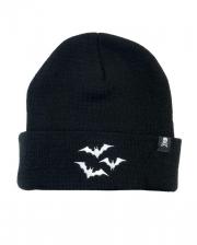 Black Beanie With White Bats