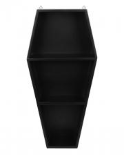 Schwarzes Gothic Sarg Regal 50cm