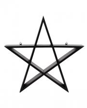 Black Pentagram Shelf 40cm