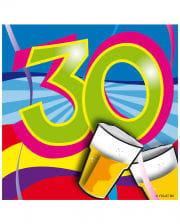 Napkins Swirls 30th Birthday