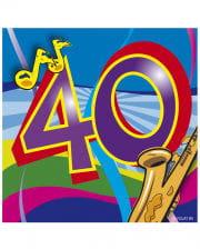Napkins Swirls 40th Birthday