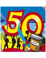Napkins Swirls 50th Birthday