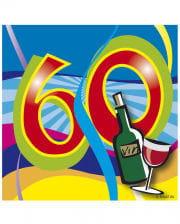 Napkins Swirls 60th Birthday