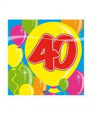 Napkins balloon 40