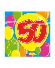 Servietten Ballon 50