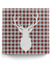 Napkins deer silhouette red 20 pc.