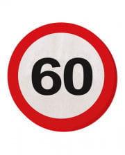 Napkin traffic sign 60