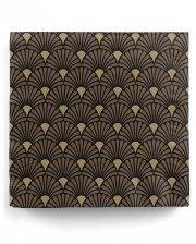 Napkins Art Deco Black Gold 20 Pcs.