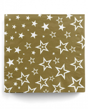 Napkins gold with stars 20 pcs.