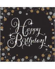 Napkins Happy Birthday Glamor 16 St.