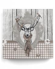 Napkins deer country house taupe 20 pcs.