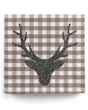 Napkins Stag Silhouette Brown 20 Pcs.