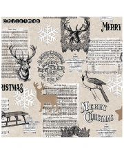 Napkins Merry Christmas Stag Collage 20 Pcs.