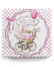 Servietten Welcome Pink 20 St.