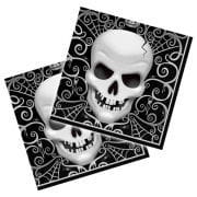 Halloween napkins with skull 16 pcs.