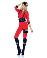 Sexy firefighter woman catsuit