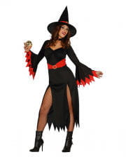 Sexy Witch Witch Costume Black/red