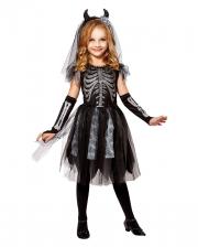 Skeledev Bride Kinder Kostüm