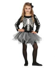 Skelett Ballerina mit Tutu Kinderkostüm