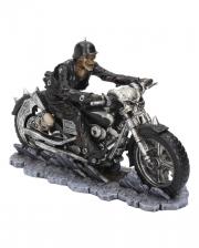 Skeleton Biker On Motorcycle