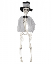 Skeleton Groom With Cylinder 40cm