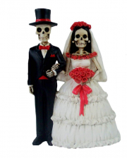 Skeleton Bridal Couple 14 Cm