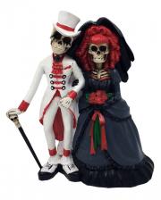 Skelett Gothic Brautpaar 15cm